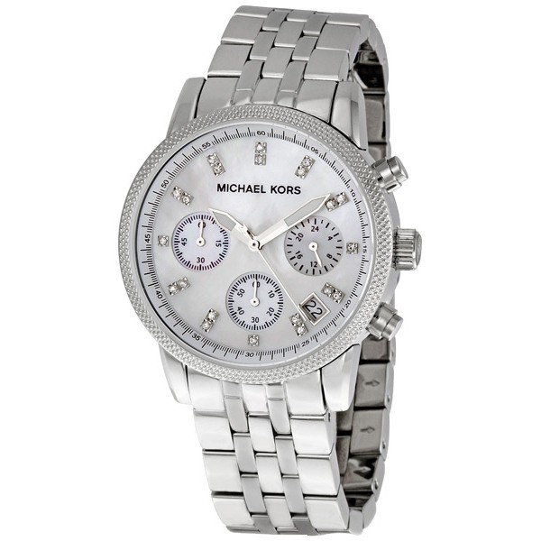 Michael Kors Ladies Chronograph Mother Of Pearl Stainless Steel Watch MK5020