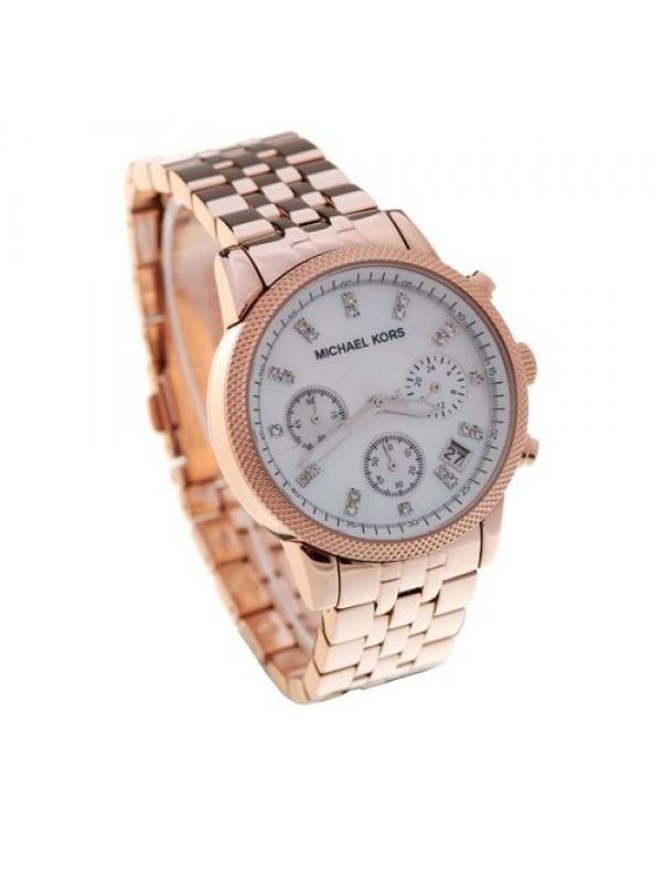 Kors Ladies MK5026 Acrylic Rose Gold Chronograph Designer Watch