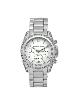 Michael Kors Ladies Blair Glitz Runway Stainless Steel Bracelet Watch 39mm MK5165