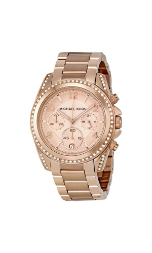 Michael Kors Ladies Rose Gold-Tone plated Blair Watch MK5263