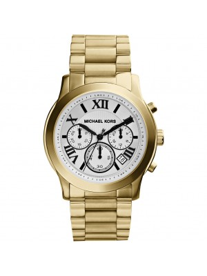 Michael Kors Men's Chronograph Cooper Gold-Tone Stainless Steel Bracelet Watch 39mm MK5916