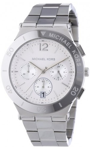 Michael Kors Wyatt Silver-Tone Stainless Steel Chronograph Ladies watch MK5932