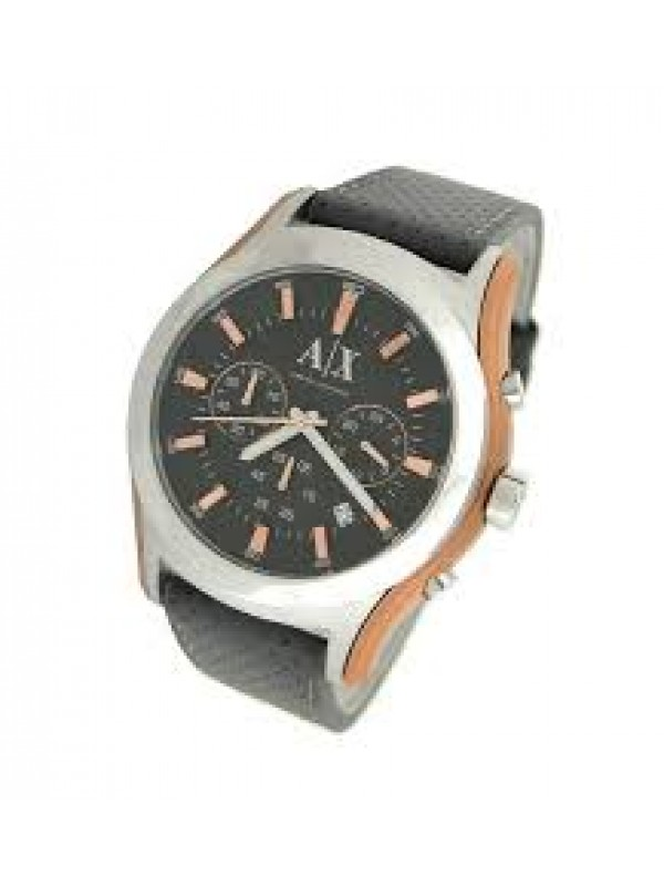 3591865a649 Armani Exchange AX2072 Perforated Grey Dial Leather Men s Watch
