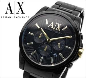 Armani Exchange AX2094  Mens Chronograph Watch with Black Ion Plated Stainless Steel Bracelet
