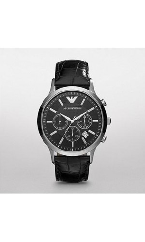 Emporio Armani Men's AR2447 Classic  Black Dial Chronograph Watch