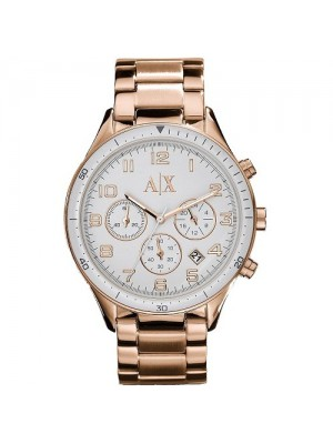Armani Exchange Ladies Rose Gold Chronograph Watch AX5107