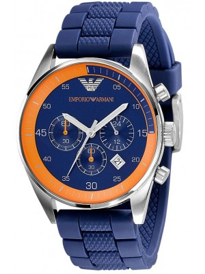 Emporio Armani AR5864 Sports Chronograph Watch with Blue Dial