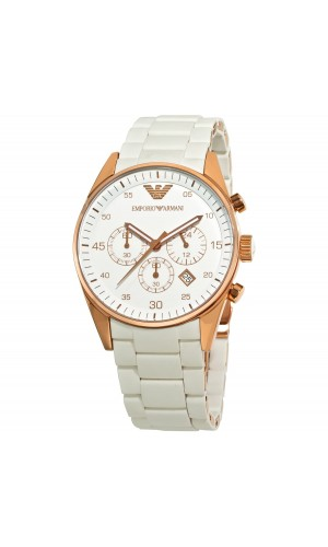 Emporio Armani White AR5919 Mens Chronograph Sportivo Watch