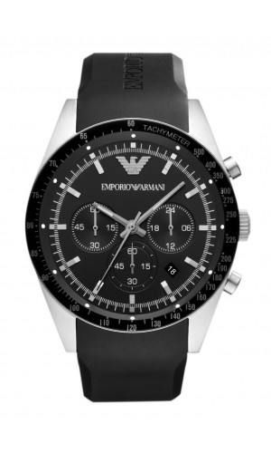 Emporio Armani Sportivo Men's Tazio Chronograph Black Watch AR5985