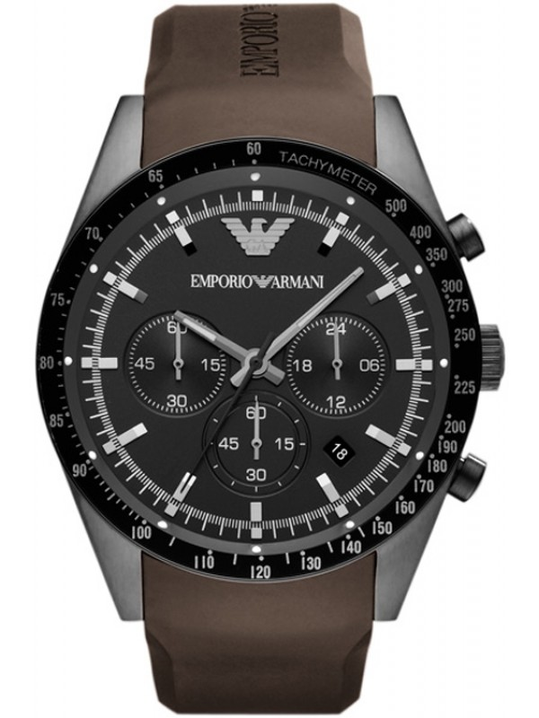 Emporio Armani Sportivo Men's Tazio Chronograph Brown Watch AR5986