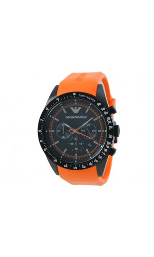 Emporio Armani Sportivo Men's Tazio Chronograph Orange Watch AR5987