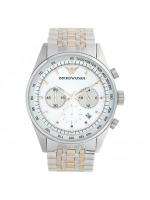 Emporio Armani Men's AR5999 Chronograph Two Tone Tazio Sports Watch