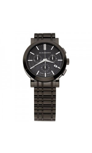 Burberry BU1373 Mens Heriatge Black Stainless Steel Watch with Black Ion Dials
