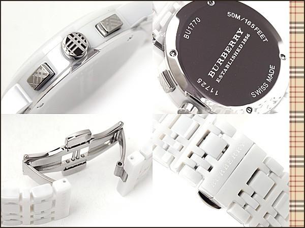 8c95fb6ce83 Burberry BU1770 Ceramic White Chronograph Dial Heritage Unisex watch
