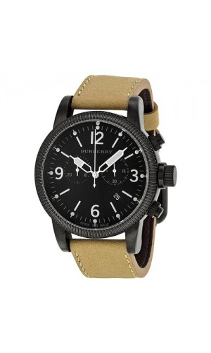Burberry BU7809 Mens Sport Endurance Leather  Watch with Stainless Steel Case