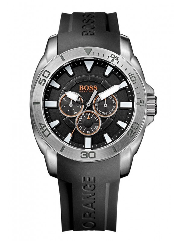 Hugo Boss Men's 1512950 Black Silicone Strap Analog Quartz Watch