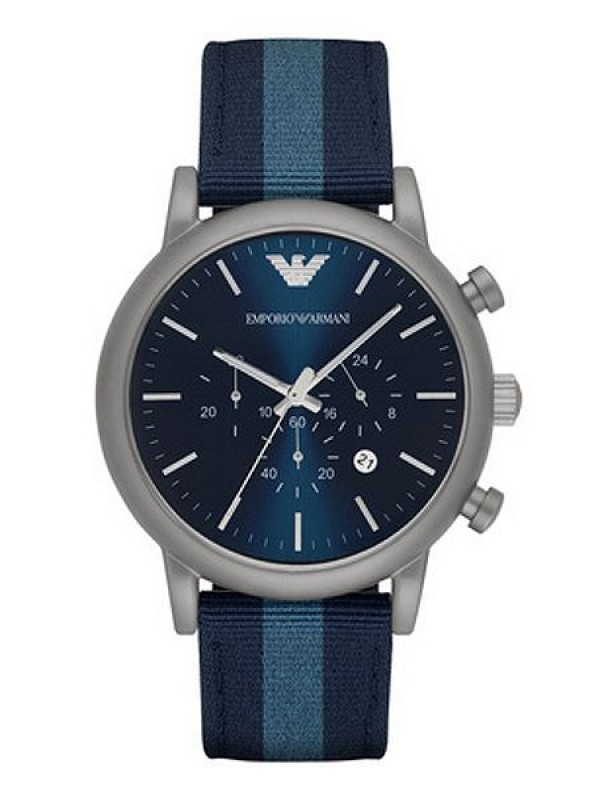 Emporio Armani Luigi Navy Blue Dial Men's Chronograph Watch AR 1949