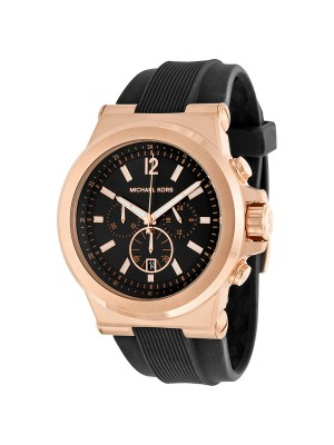 Michael Kors Dylan Men's Black Silicone Chronograph MK8325 Watch