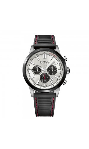 Boss HB 1513185 Quartz Aviator Chrono Black Dial Watch for Men