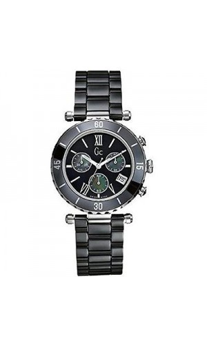 Guess Gc G43001m2 38mm Ceramic Case Black Ceramic Mineral Men's Watch