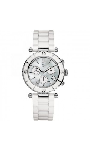 Guess Collection GC I43001M1 Chronograph White Ceramic Women's Watch