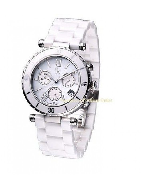 0d48c869e Guess Collection GC I43001M1 Chronograph White Ceramic Women's Watch