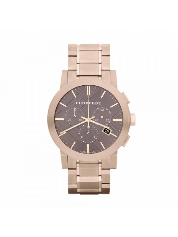 Burberry BU9353 Rose Gold Plated Stainless Steel Watch with Taupe Dial for Ladies