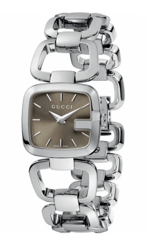 Gucci G-Gucci YA125507 Womens Silver Luxury Watch