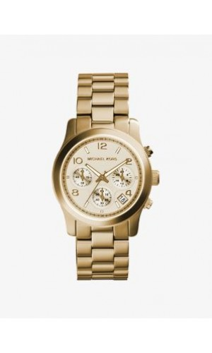 Michael Kors Unisex MK5055 Runway gold tone Chronograph watch