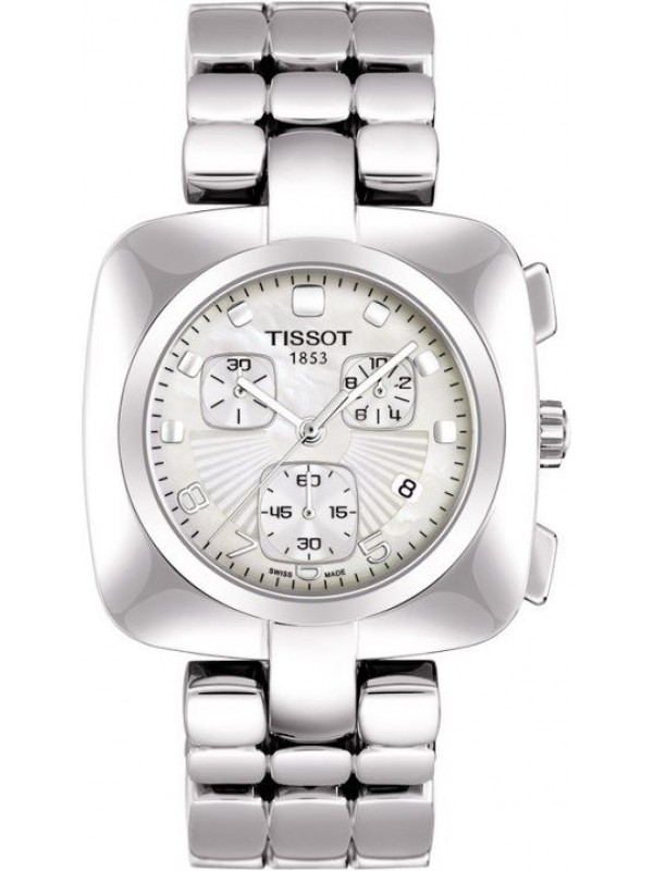 Tissot Odaci-T Mother of Pearl Chronograph Ladies T020.317.11.117.00 Luxury Watch