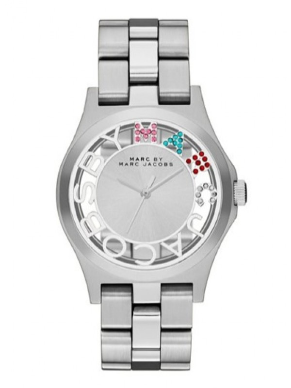 Marc Jacobs Henry Skeleton SilverLadies Watch MBM3262