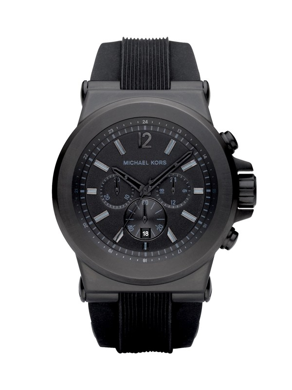 Michael Kors Dylan Men's Black Silicone Chronograph MK8152 Watch