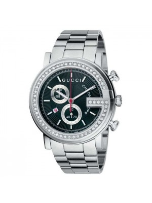 Gucci Unisex G Chrono Diamond Bezel Bracelet 44mm YA101324 Watch