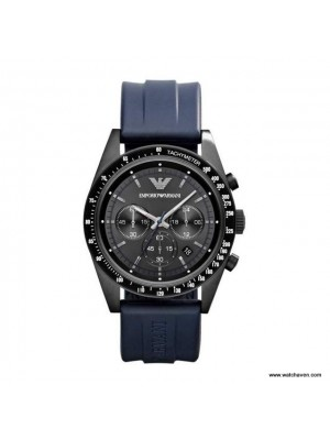 Emporio Armani Blue strap Chronograph Mens Watch AR6113