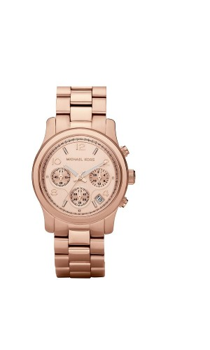 Michael Kors Ladies Rosegold Midsized Runway Chronograph watch MK5128