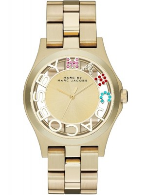 Marc Jacobs Henry Skeleton Gold Ladies Watch MBM3263