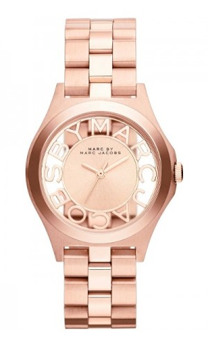 Marc Jacobs MBM3293 Henry Skeleton Rose Gold Analog Dial Steel Women Watch