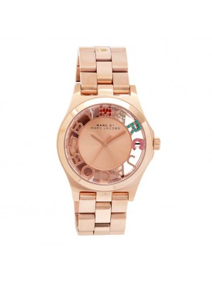 Marc Jacobs Henry Skeleton RoseGold Ladies Watch MBM3264