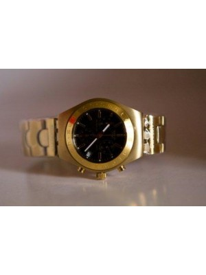 Gold plated ladies' swatch irony