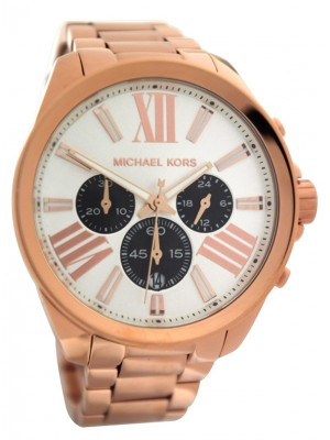 Michael Kors MK5712 chronograph rose gold watch for Ladies