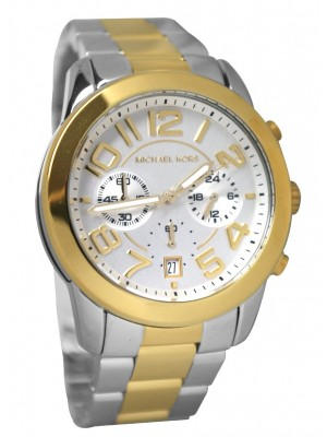 Michael Kors MK5748 mercer gold two tone watch for men