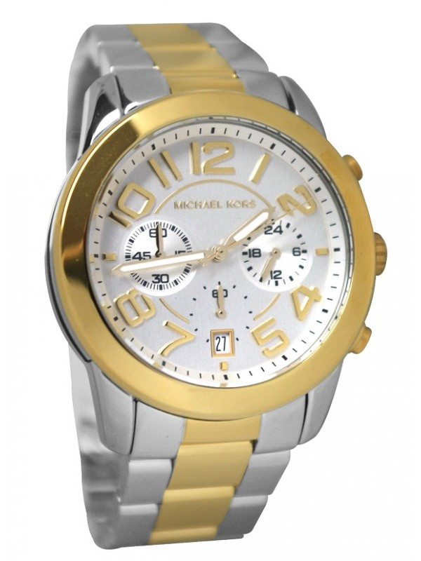 4109ef6c31bd Michael Kors MK5748 mercer gold two tone watch for men