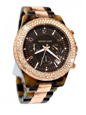 Michael Kors Chronograph Tortoise Rose Gold Watch for Men
