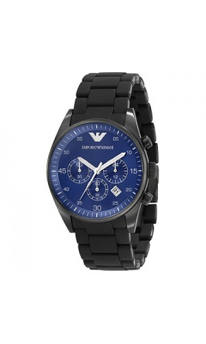 Emporio Armani Blue Dial Chronograph Mens Watch Ar5921