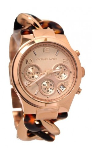 Michael Kors Ladies Metal and Acetate Runway Twist Watch MK4269