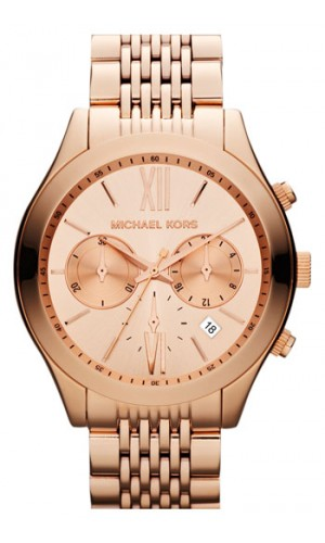 Michael Kors Rose Gold Brookton MK5762 watch with Two chronograph dials for ladies