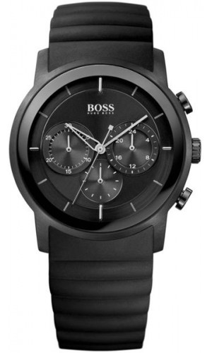 Hugo Boss Chronograph Black Rubber Strap Watch for Men