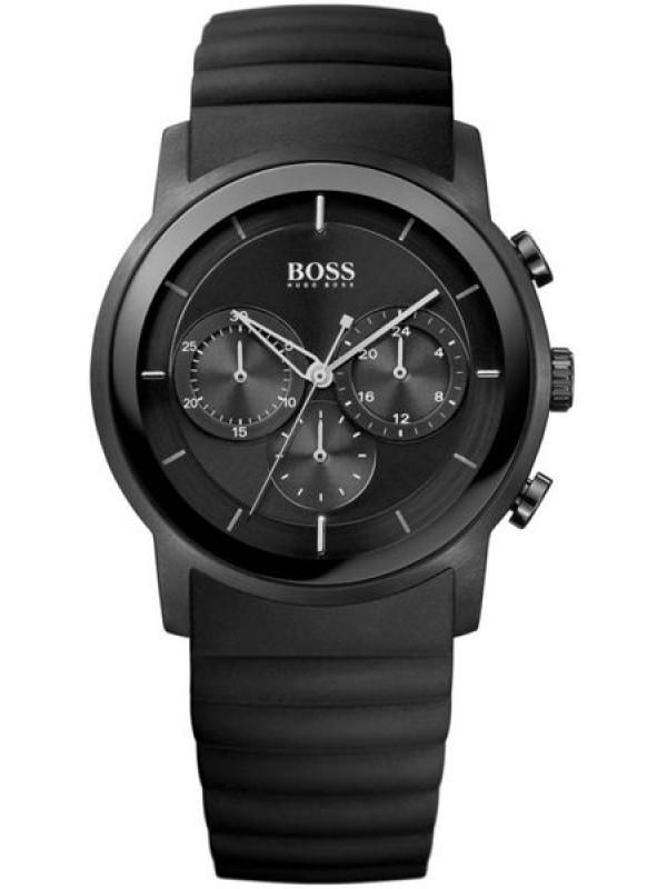 Hugo Boss Chronograph Black Rubber Strap Watch for Men