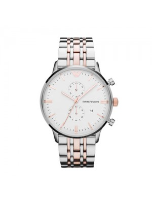 Armani Classic Steel Quartz White Dial Color Men's Watch AR0399