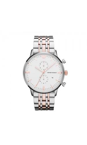 Armani Classic Steel Quartz White Dial Color Men's Watch AR0399